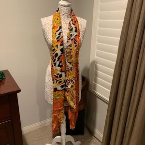 Long Viscose Animal Print Scarf from Nordstrom
